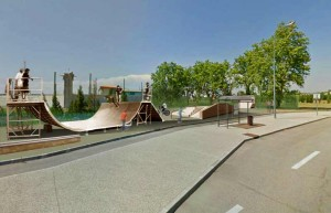 Photomontage skateparc. Conception : David Ratanat