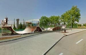 Photomontage skateparc. Conception : David Ratanat