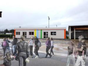 Construction modulaire de salle de classe, St-Julien en Genevois, 2020 - David Ratanat