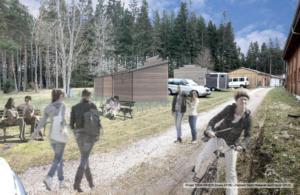 Cabanes de trappeurs d'un centre de Vacances, 2019 - David Ratanat Architecte(en cours de construction)